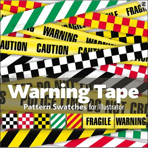 Warning-tape-pattern-swatches