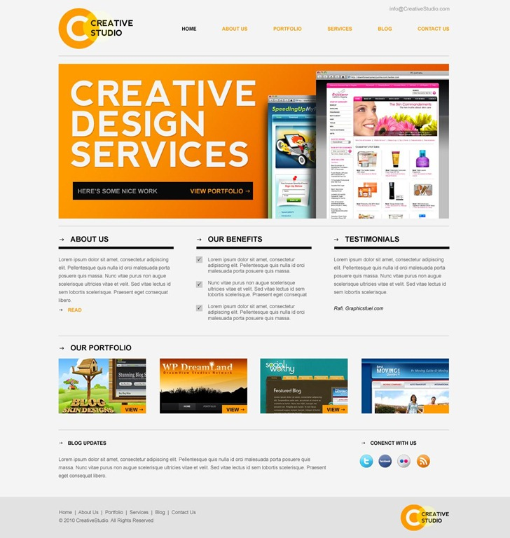 Creative Website Templates: 50 Beautiful Free And Premium PSD Website Templates And