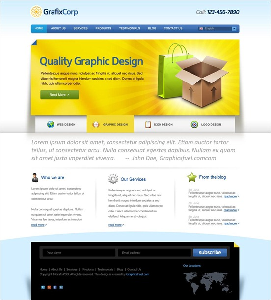elegant-website-psd-template