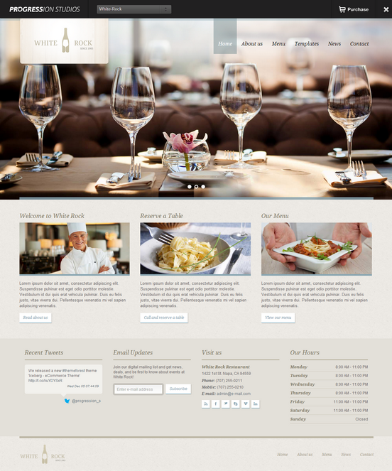 White Rock restaurant theme