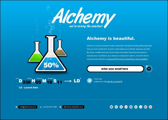 alchemy under construction wordpress themes