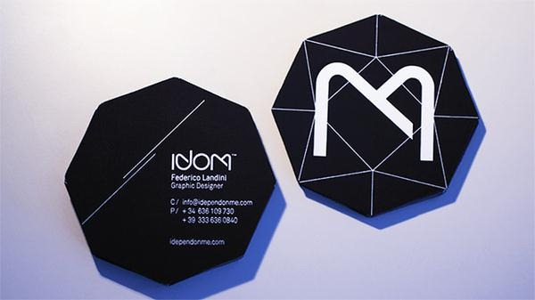 25 examples of cool and creative die cut business cards creative black diamond business card colourmoves