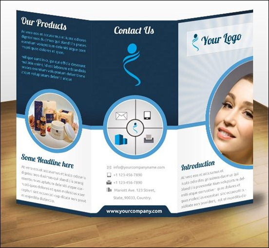 60 beautiful tri fold brochure designs and premium for Tri fold business brochure template