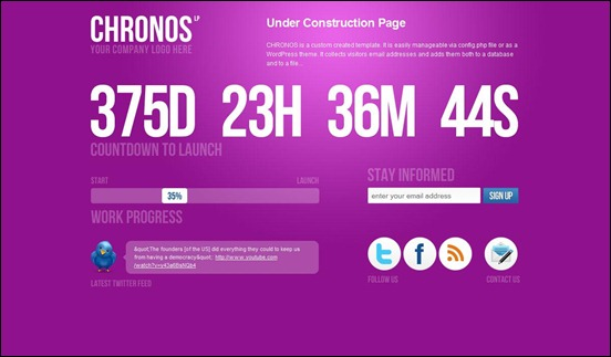 chronos under construction wordpress themes