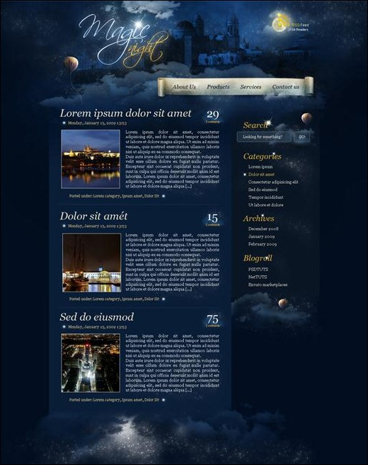 create-a-magic-night-themed-web-design