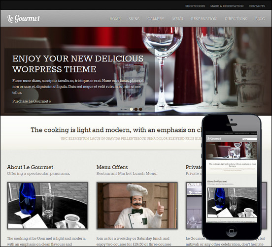 le-gourmet-premium-restaurant-wordpress-theme