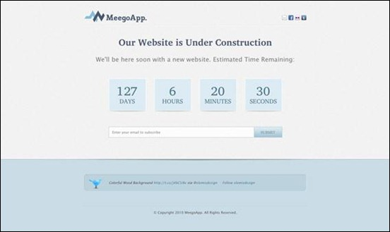 megoapp under construction wordpress themes