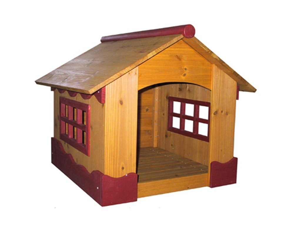 Dog House Natural Wood Feel