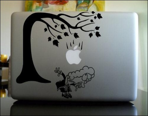 newton-and-falling-apple-macbook-sticker