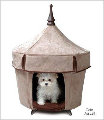 Pet Tent Small Dog Bed u2013 Cafe Au Lait & 30 Cozy and Creative Dog Houses for Your Furry Friends - Creative ...