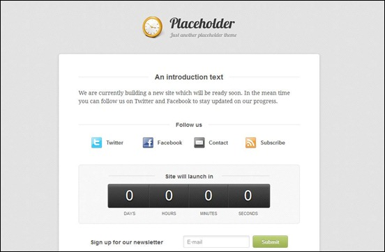 placeholder under construction wordpress themes