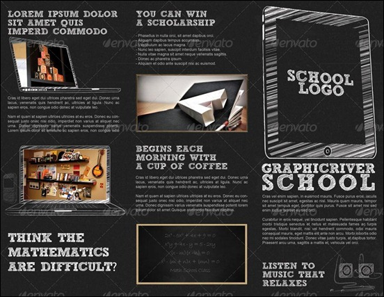 Brochure Examples For School Insssrenterprisesco - Tri fold school brochure template