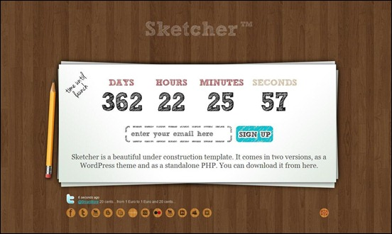 sketcher under construction wordpress themes
