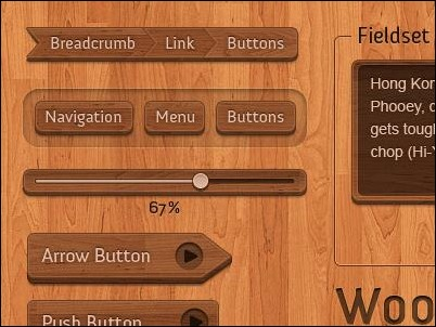 wooden-interface-elements