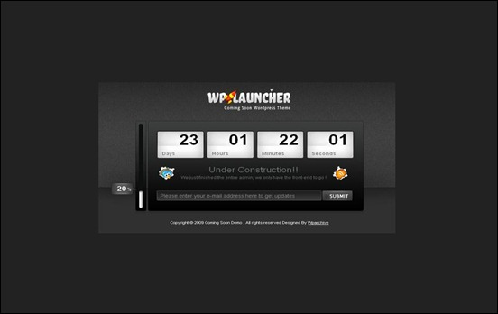 wp-launcher under construction wordpress themes