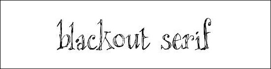 blackout-serif
