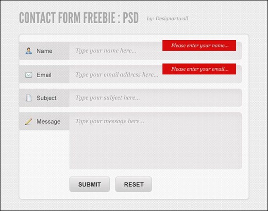 free-contact-form-psd