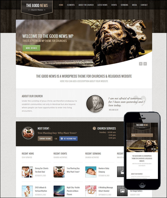 25 Beautiful Church WordPress Themes - Creative CanCreative Can