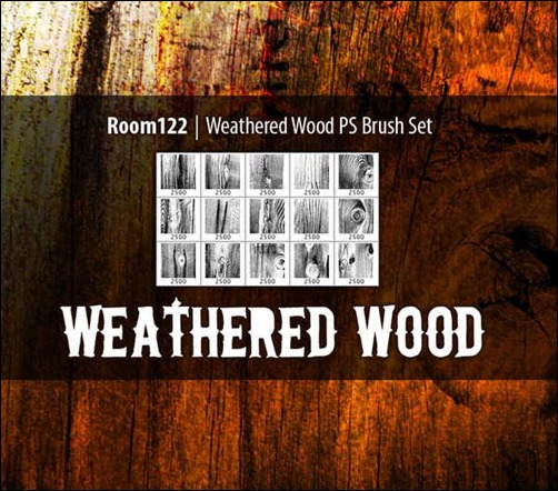 weathered-wood-photoshop-brush-sets