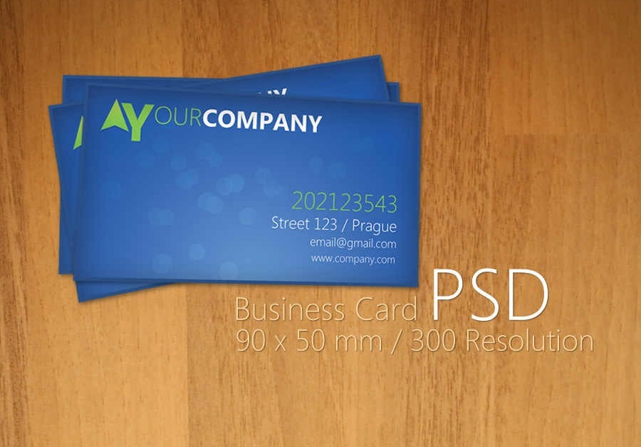 50 attractive business card psd templates creative cancreative can blue business card psd by martz90 reheart Choice Image