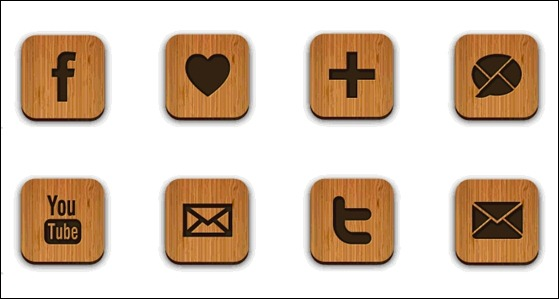 free-wood-textured-social-media-icons