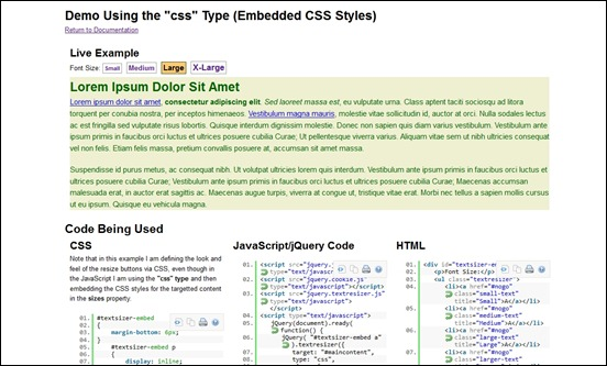 jquery-text-resizer-plugin