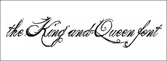 King And Queen Font By Weknow