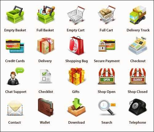 professional-e-commerce-icon-set