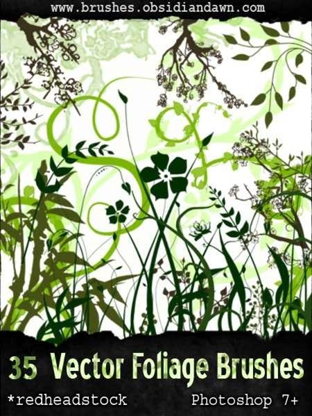 vector-foliage-plant-brushes