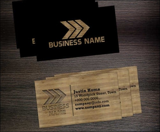 50 attractive business card psd templates creative cancreative can wooden business card template by hotpindesigns cheaphphosting Choice Image