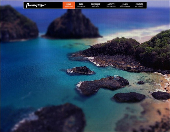 PicturePerfect, Fullscreen WordPress Theme