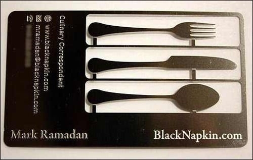 black-napkin-business-card