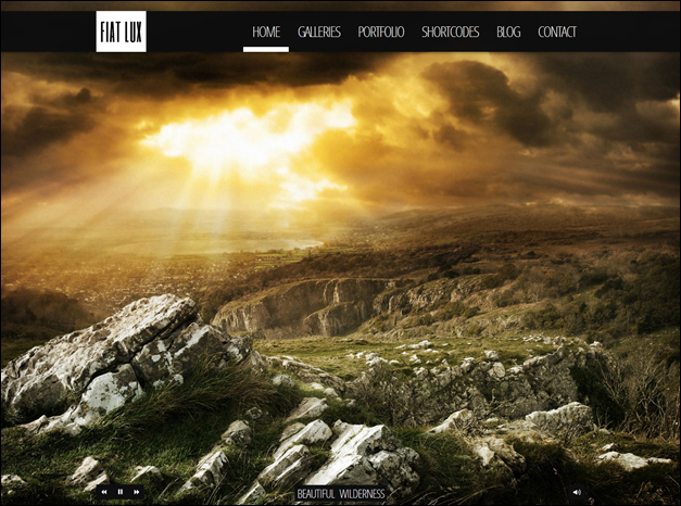 Fullscreen WordPress Theme Design, Fiat Lux