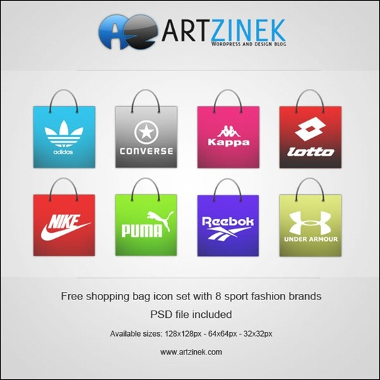 free-shopping-bag-icon-set