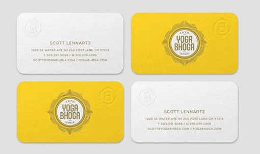 35 Charming Business Cards with Rounded Corners - Creative ...
