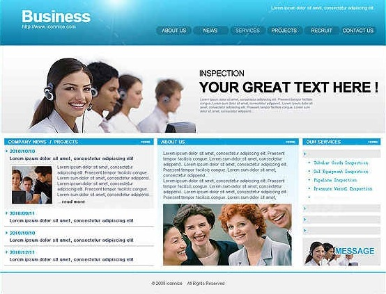 40 beautiful and free business psd website templates creative blue business web template fbccfo Image collections