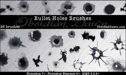 bullet-holes-brushes
