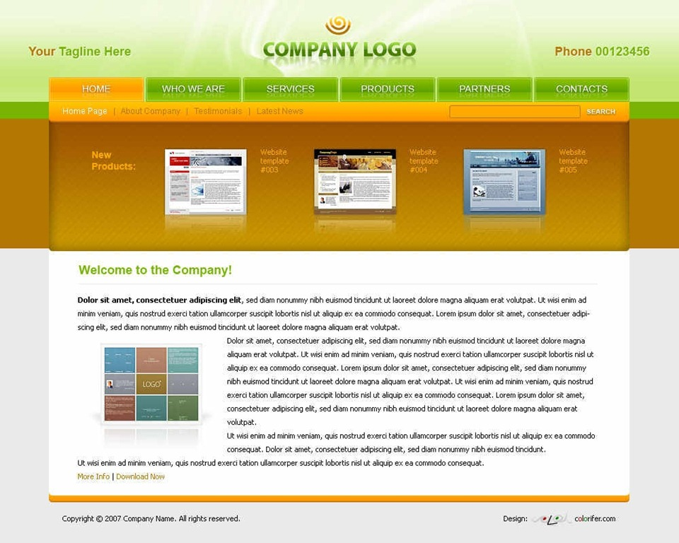 40 Beautiful And Free Business Psd Website Templates