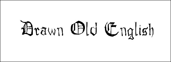 drawn-old-english