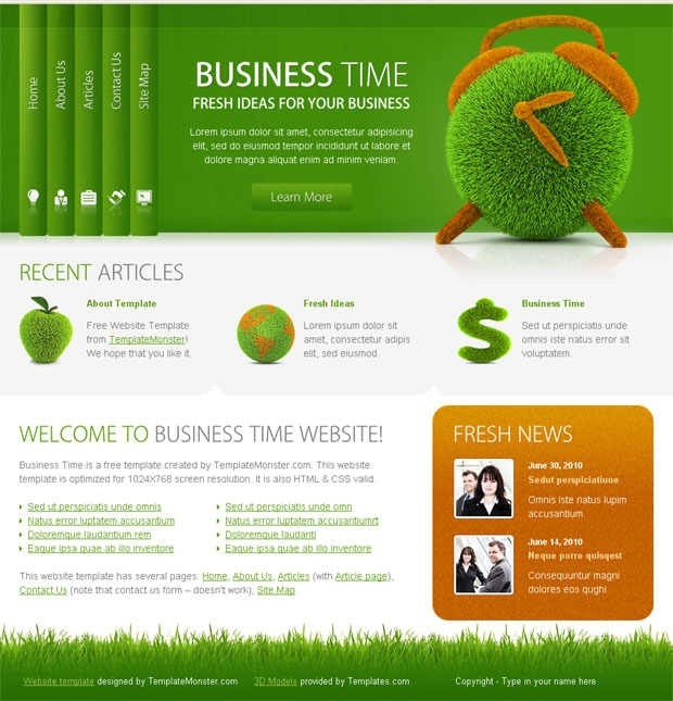 40 beautiful and free business psd website templates creative free business website template cheaphphosting Choice Image