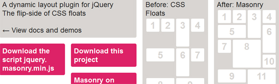 jQuery plugins for responsive layout