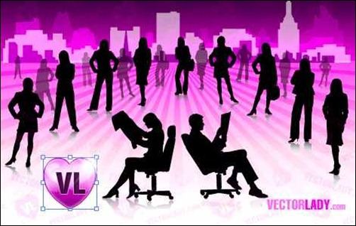 business-girls-silhouettes