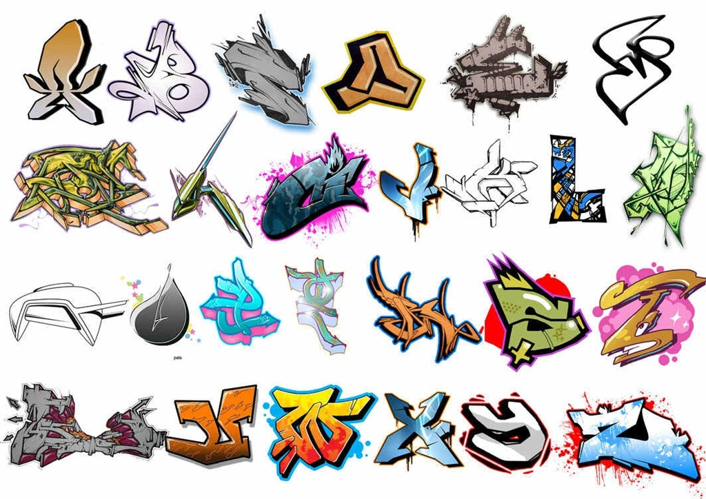 30 photoshop graffiti brushes for urban themed artworks - Graffiti alfabet ...