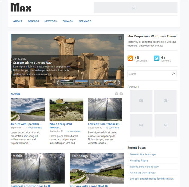 max-free-wordpress-theme