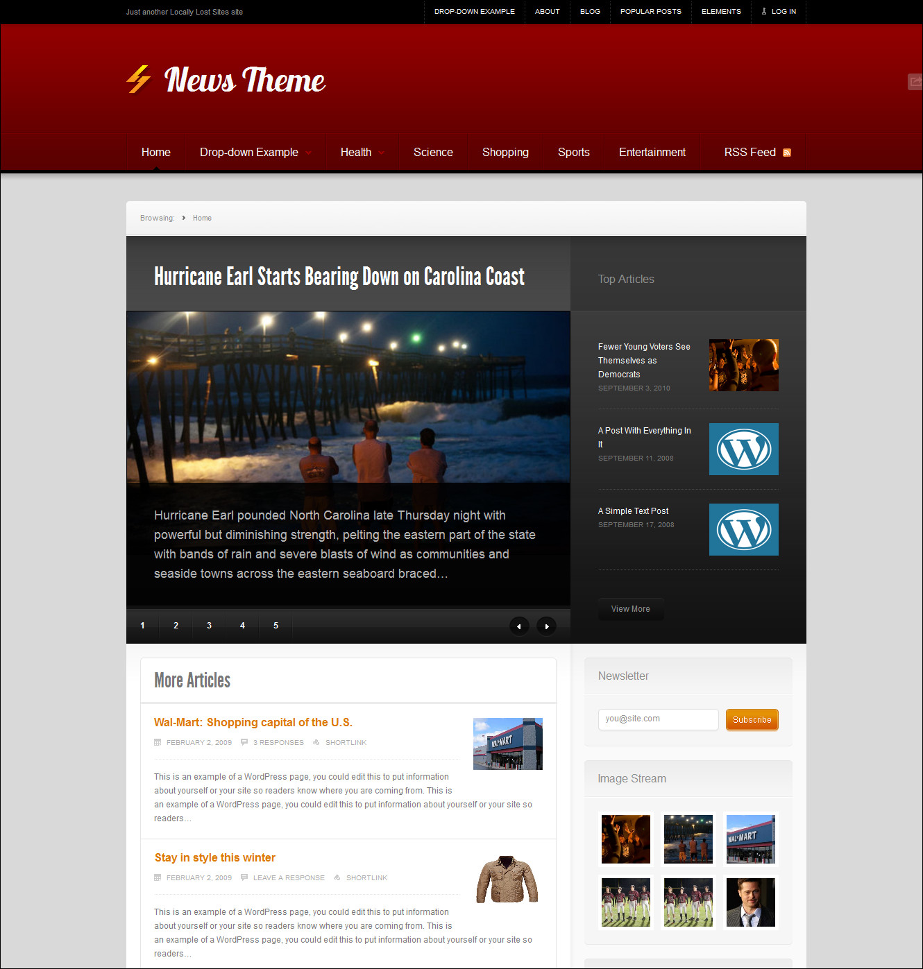 Free forex wordpress template