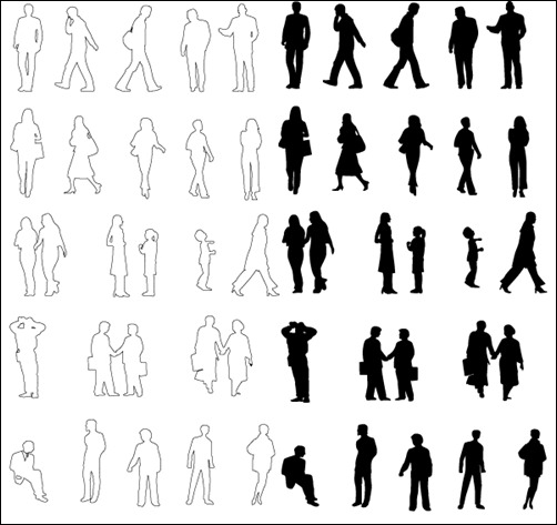 people-silhouettes-vector-pack