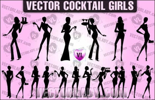 vector-cocktail-girls