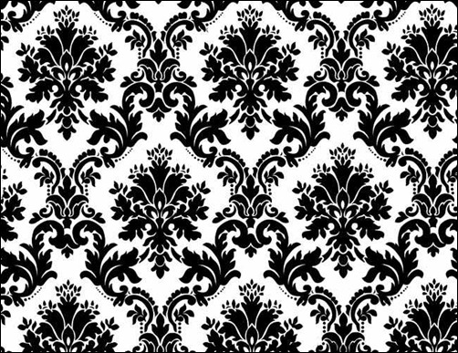 black-white-floral-background