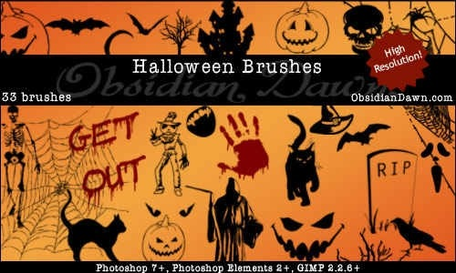 30 Awesome Photoshop Halloween Brushes - Creative CanCreative Can