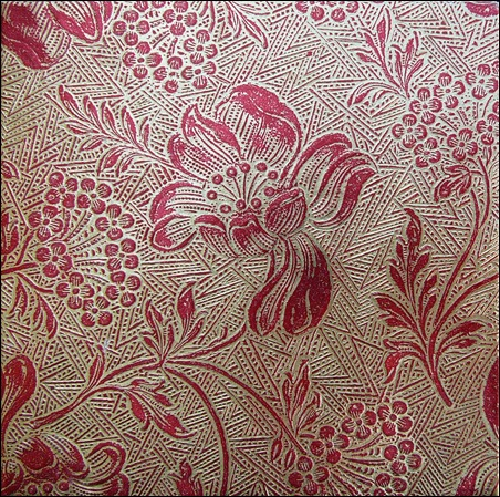red-gold-floral-background